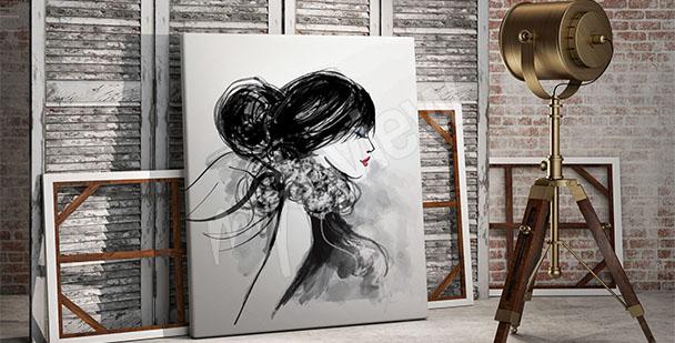 Obraz portrét do obývacího pokoje