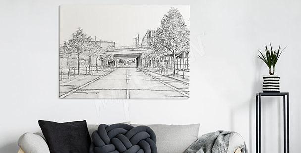 Obraz prázdná ulice