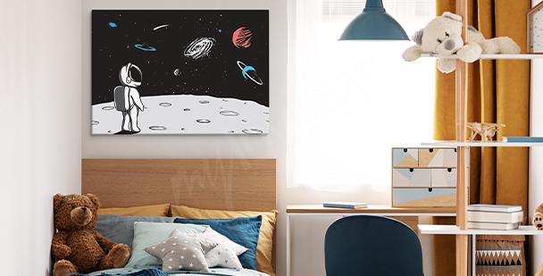 Obraz přistání na Měsíci