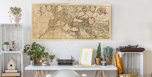 Obraz retro mapa