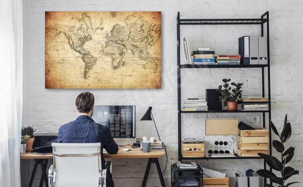 Obraz retro mapa do kanceláře