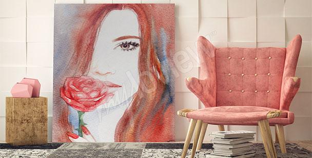 Obraz rudovlasá žena