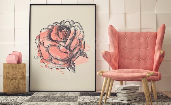 Obraz růže květ