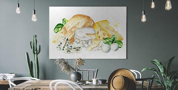 Obraz různé typy sýra