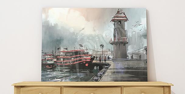 Obraz rybářské lodě