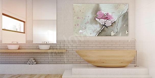 Obraz s abstraktní květinou