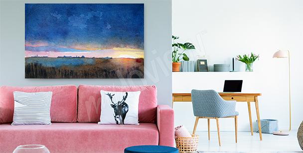 Obraz s barevnou krajinou