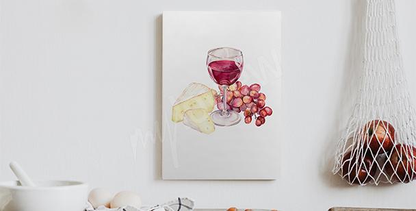 Obraz s červeným vínem