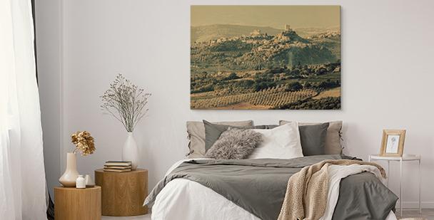 Obraz s italskou krajinou