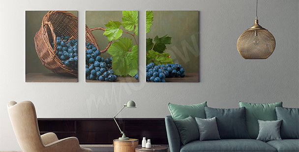 Obraz s košem s ovocem