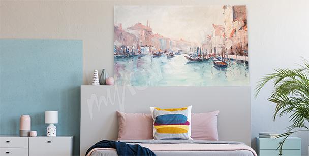 Obraz s krajinou Benátek