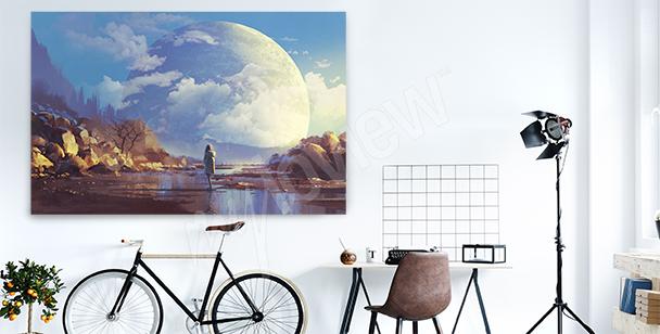 Obraz s měsícem