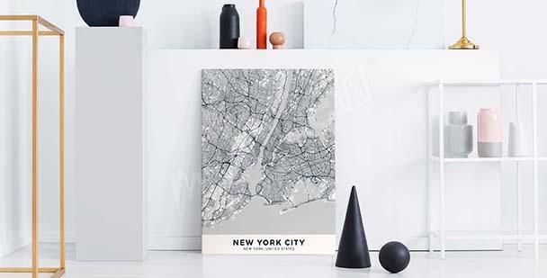 Obraz s plánem města