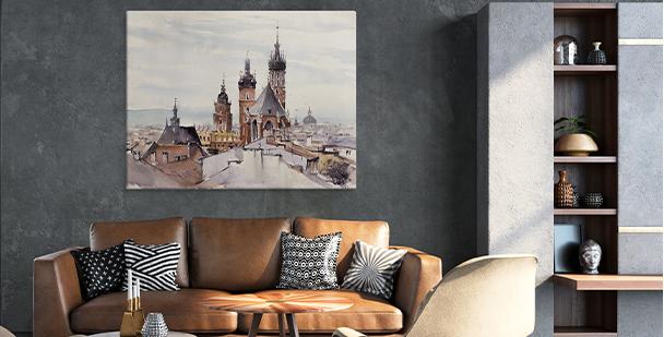 Obraz s pohledem na staré město