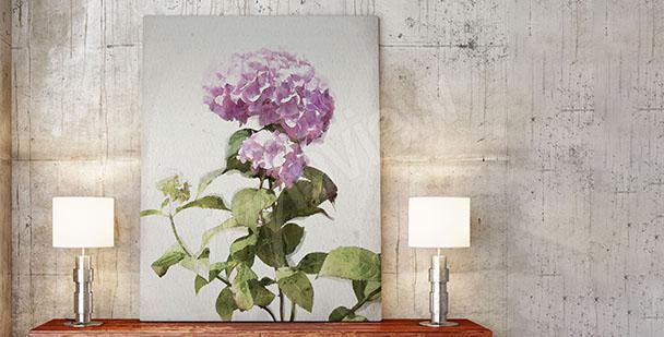Obraz s rozkvetlými květinami