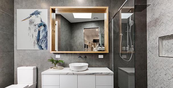 Obraz s volavkou do koupelny
