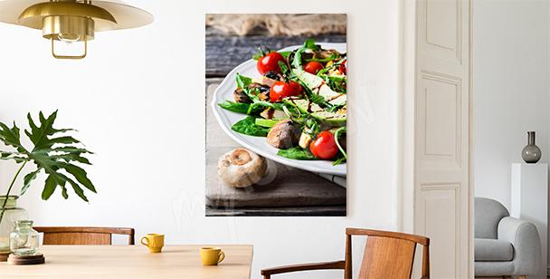 Obraz salát s avokádem