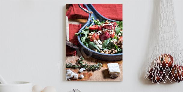 Obraz salát s jahodami