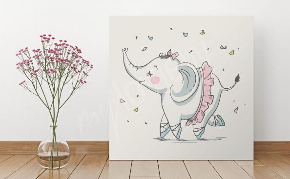 Obraz se slonem do dětské ložnice
