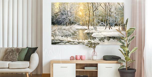 Obraz se zimní krajinou