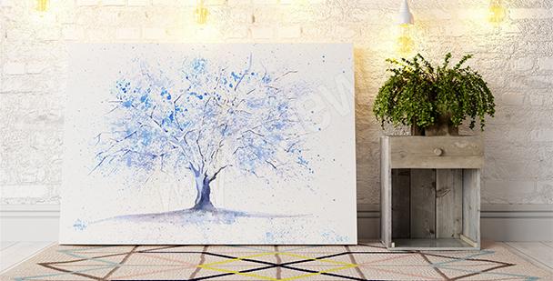 Obraz se zimním stromem