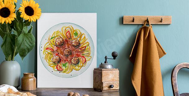 Obraz spaghetti