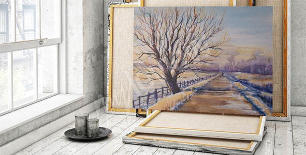Obraz strom - krajina