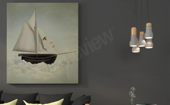 Obraz surrealismus - člun