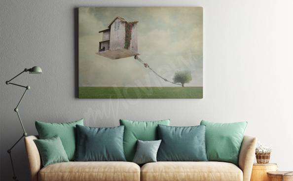 Obraz surrealismus - dům