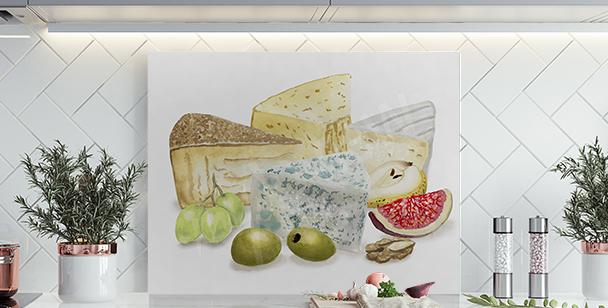 Obraz sýr a ovoce