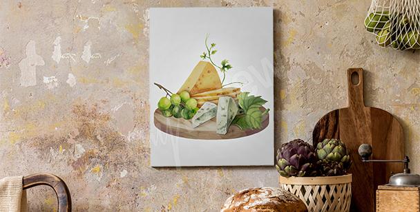 Obraz sýrové prkénko