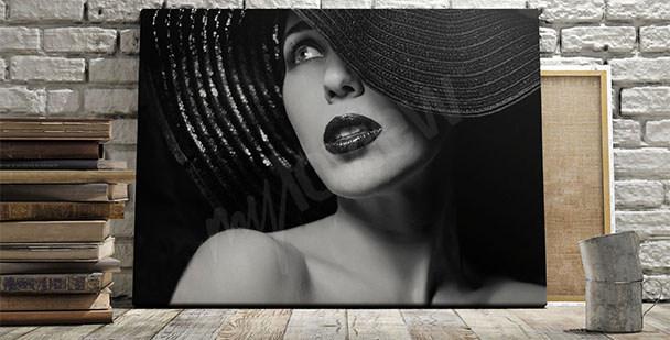 Obraz tajemná žena