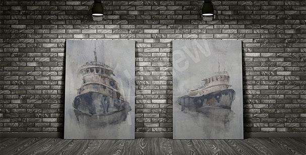 Obraz tajemné lodě