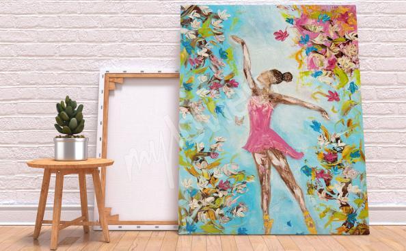 Obraz tanec a květiny