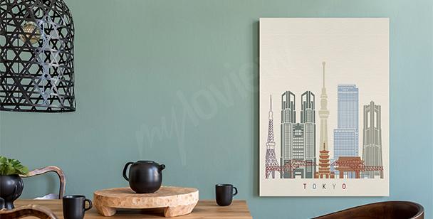 Obraz Tokio a mrakodrapy