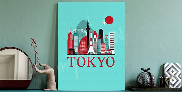 Obraz Tokio a panorama města