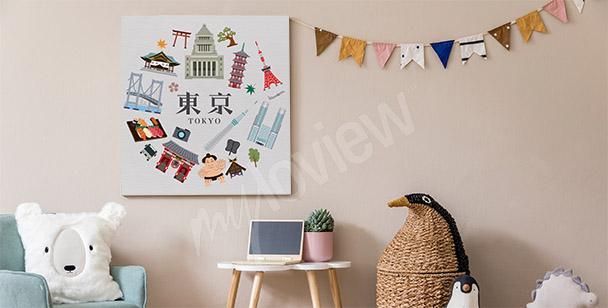 Obraz Tokio a symboly