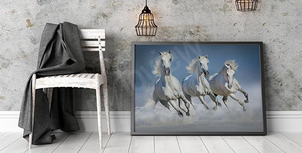 Obraz trojice koní