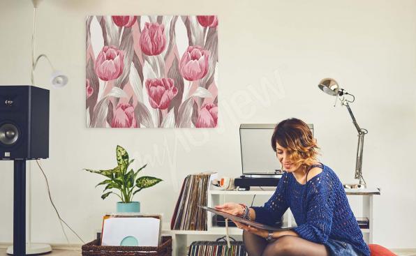 Obraz tulipány akvarel