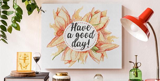 Obraz typografie a květiny