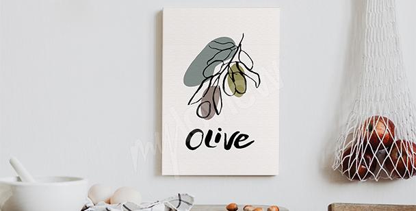 Obraz typografie s olivou