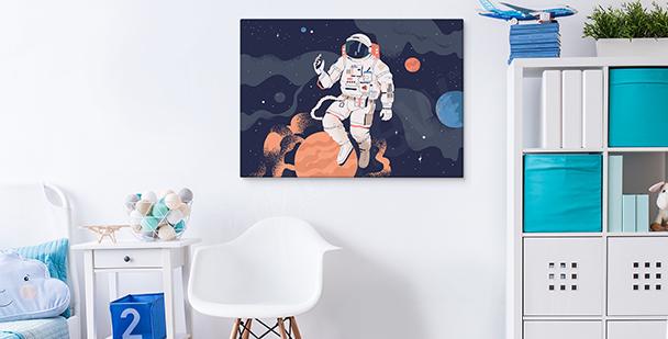 Obraz vesmír a astronaut