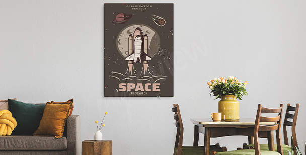 Obraz vintage s vesmírným motivem