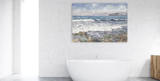 Obraz vlny na moři