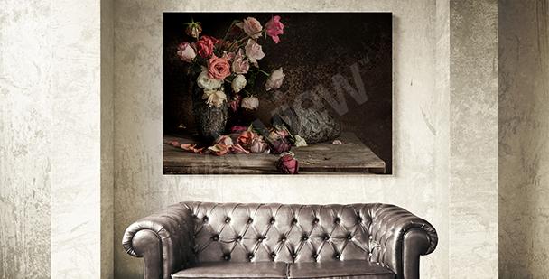 Obraz zátiší s růží
