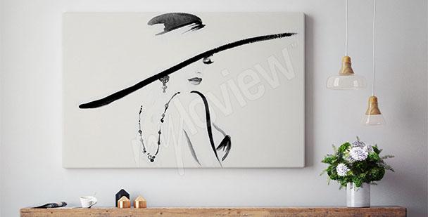 Obraz žena v klobouku