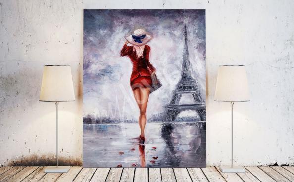 obraz ženy v Paříži