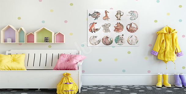 Obraz zvířata do dětského pokoje