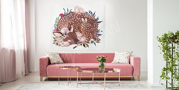 Obraz zvířata do obývacího pokoje