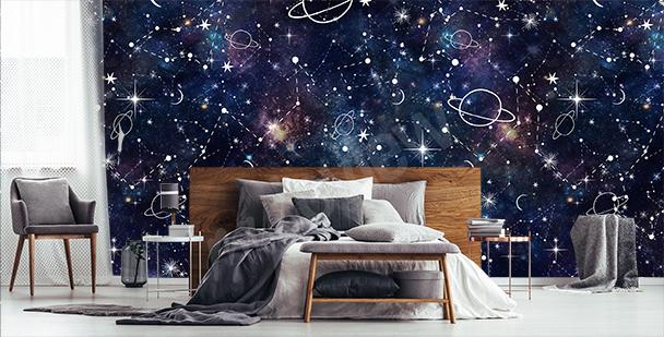 Obrázková fototapeta galaxie
